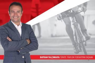 Başkan Bayram Yalçınkaya'dan triatlon camiasına mesaj